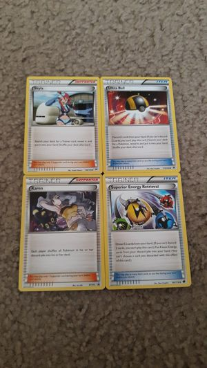 Lot of 4 Pokemon Trainer collectible cards for Sale in Glendale, CA