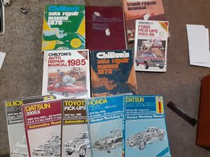 Manuals various kinds. 20 cash for all for Sale in Portland, OR