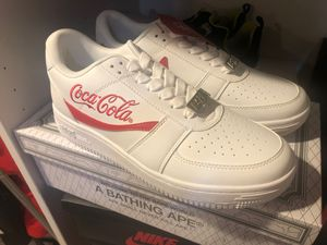 Bape x Coca Cola Bapesta Men's Low Size 9.5 for Sale in Silver Spring, MD