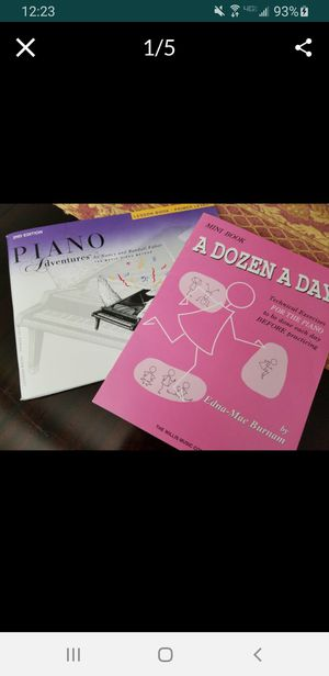 Piano books for beginner for Sale in Irvine, CA