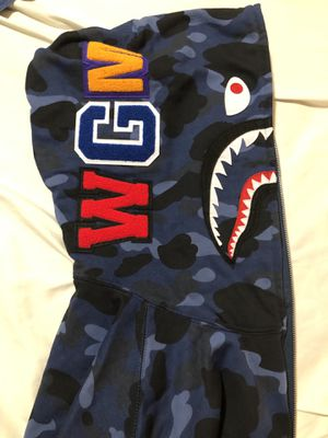 BAPE BLUE CAMOUFLAGE ZIP UP JACKET for Sale in Sterling Heights, MI