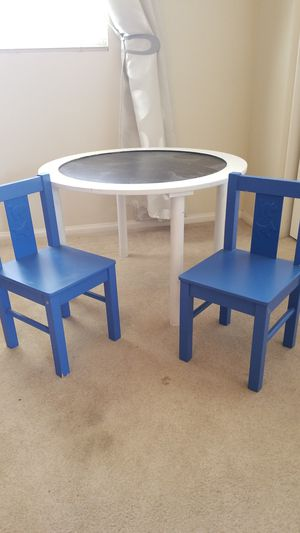 Kids chalkboard table and chairs for Sale in Palmdale, CA
