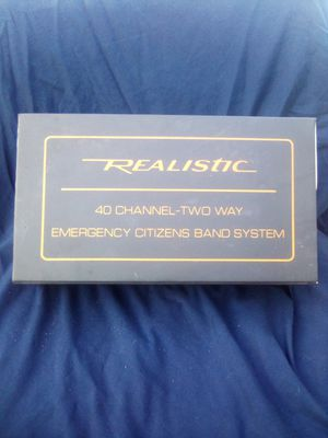 **REALISTIC** 40 CHANNEL-TWO WAY EMERGENCY CITIZEN SYSTEM. ++LIKE NEW/ WORKS PERFECTLY++ for Sale in Nipomo, CA
