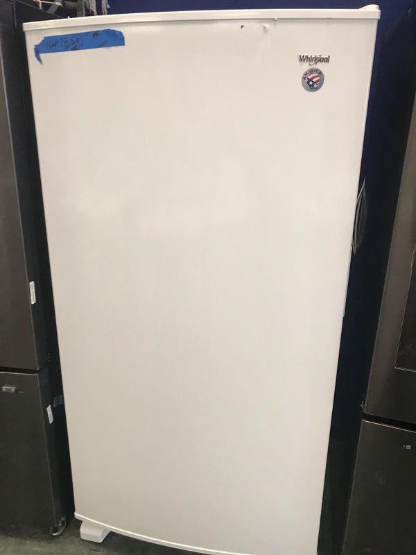 New whirlpool upright freezer with one year warranty