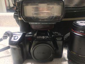 Minolta Maxxum 7000i SLR 35mm Camera w/extras for Sale in San Antonio, TX