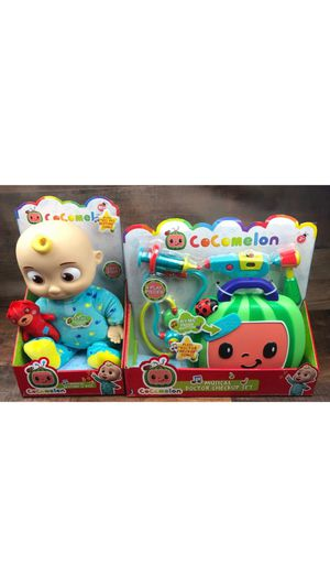 New Cocomelon Singing Bedtime JJ Doll Plush and Doctor Checkup Case Set Bundle Toys for Sale in Los Angeles, CA