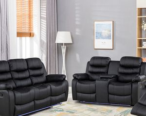 Brandon new leather sofa love seat recliner on sale $899 we deliver visit us! for Sale in Queens, NY