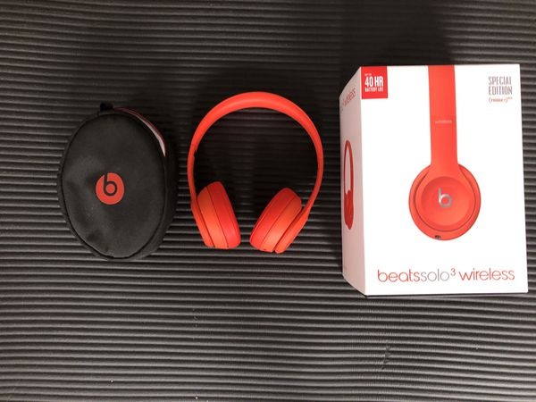 Beats Product(Red) Solo3 wireless headphones