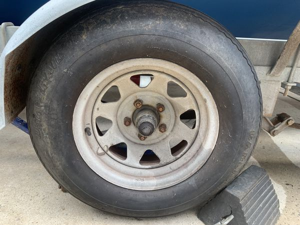 Trailer tires and rims lt 205/75/14 All 4
