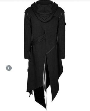 Punk Mens Hooded Jacket Black Goth Dieselpunk Dystopian Apocalyptic Hoodie for Sale in Phoenix, AZ