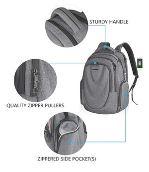 Travel Laptop Backpack 17.3 Inch Molded Front Panel Large Computer Daypack Water-Repellent with RFID Pockets USB Charging Port for Sale in Garden Grove, CA