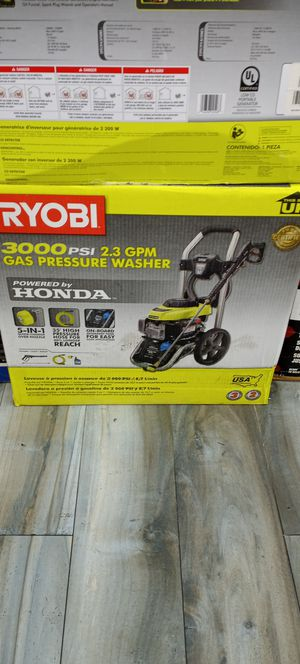 RYOBI 3000 PSI GAS PRESSURE WASHER HONDA ENGINE 2.3GPM for Sale in Fort Lauderdale, FL