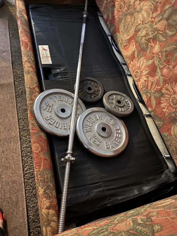Weights and bar (1 inch bar and weights)