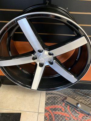 "Five star five 22"" Rims and tires U2 black machined Rims for Sale in North Miami, FL"