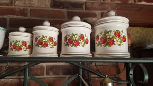 Assorted collections of antique cannisters. See collections by scrolling $10...Each. set... for Sale in Hessmer, LA