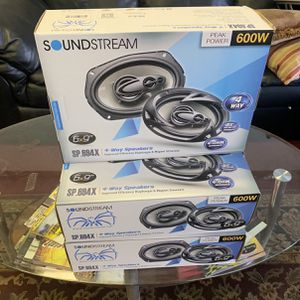 Soundstream Car Audio 6x9 Car Stereo Speakers . 600 watts . New Years Super Sale . $35 A Pair While They Last . New for Sale in Mesa, AZ