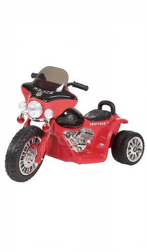 Red 3 Wheele Mini Motorcycling For Kids | Battery Powered Ride On Toy - Police Car for Sale in Alpharetta, GA