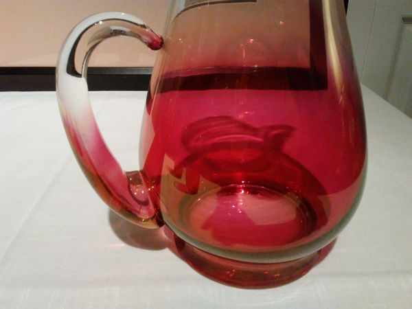 Vintage Rose Ombre Pitcher and Glasses