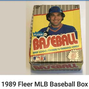 Fleer wax Pack baseball cards , full boxes .1988 / 89 for Sale in Kent, WA