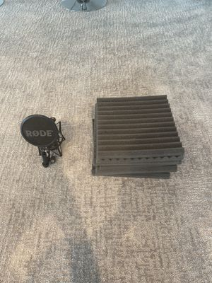 Rode NT-1 Mic holder & 7 Acoustic Foam squares for Sale in Baltimore, MD