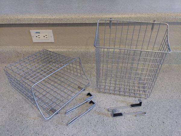 2 Hanging baskets for cabinet storage