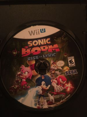 Nintendo Wii U sonic boom for Sale in Visalia, CA