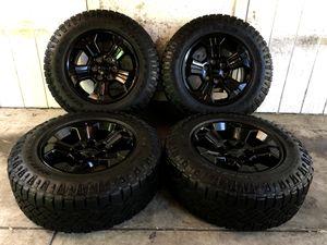 "Chevy Tahoe Silverado 18"" Factory Black Midnight Edition Stock Takeoff Wheels z71 OEM Rims Goodyear Wrangler Tires Brand New for Sale in Santa Ana, CA"