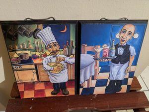 Kitchen decor bistro wall art for Sale in Tulsa, OK