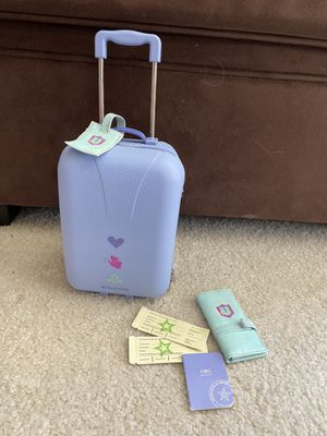 American Girl Doll Travel Kit! Suitcase! Passport! Airplane Tickets! for Sale in Mission Viejo, CA
