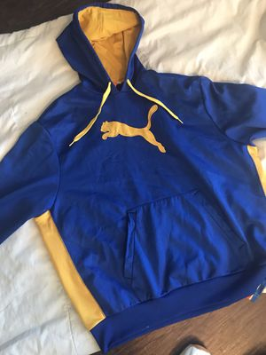 PUMA XXL HOODIE Blue/Yellow for Sale in DeSoto, TX