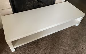 White modern TV table for Sale in Fresno, CA