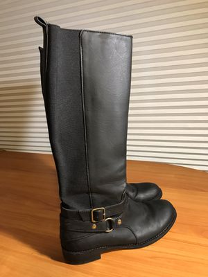 Ladies boots, Kenneth Cole tall black & red Rubber slip ons for Sale in Mokena, IL