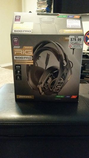 MAKE ME AN OFFER / $90 VALUE WITH WARRANTY / GAMING HEADPHONES / RIG PRO 500 DOLBY ATMOS/ WORKS ON XBOX & PS4 & PC for Sale in Tomball, TX