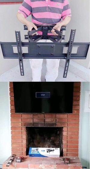 New in box 32 to 65 inches swivel full motion tv television wall mount bracket 120 lbs capacity with hardwares included soporte de tv for Sale in Whittier, CA