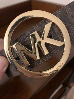 MK Signature Monogram Logo Buckle and Belt for Sale in Lorton, VA