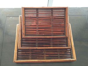 Nesting wicker trays for Sale in Chicago, IL