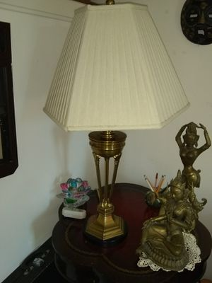 Heavy brass table lamp for Sale in Fort Belvoir, VA