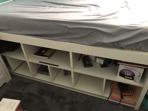 Twin bed with storage space underneath • mattress included! for Sale in Philadelphia, PA