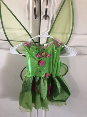Disney authentic fairy lies Tinkerbell costume with detachable wings. Size 3t-4t for Sale in Rancho Cucamonga, CA