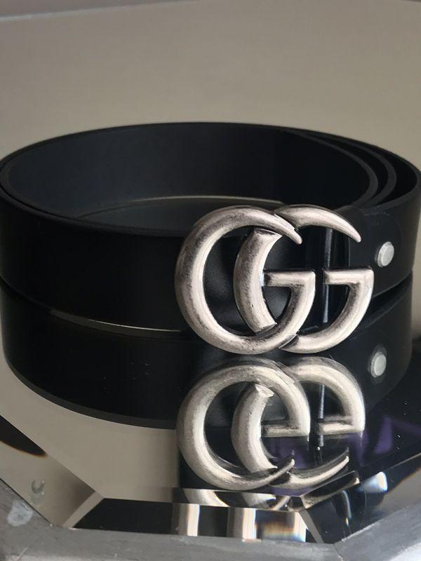 Leather Louis Vuitton/ Gucci belt