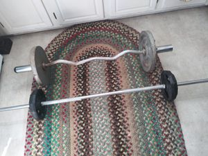 2 Weight Bars, with weights for Sale in Fullerton, CA
