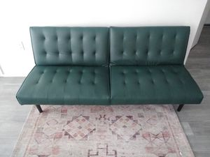Fairly New Leather Futon Sofa for Sale in Seattle, WA