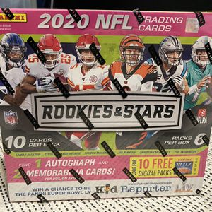 2020 NFL Rookies & Stars Mega Box Football Trading Cards 🏈 for Sale in Fresno, CA
