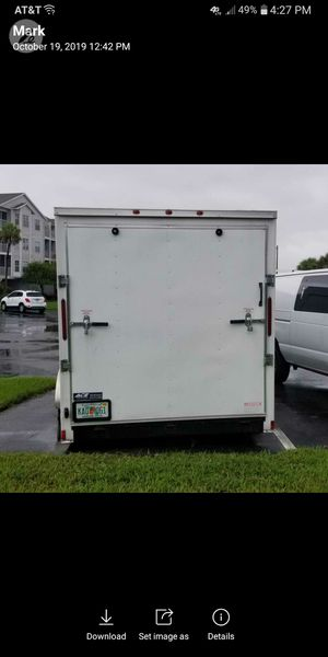 2017 Enclosed Trailer 7×18Lx84inH inside is totally shelved for tools. for Sale in Davenport, FL