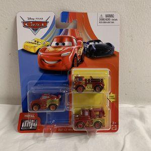 Disney Pixar Cars Metal Mini Racers- Rust-eze Wraps Series (Mater, Red, McQueen) for Sale in Hialeah, FL