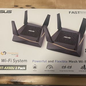 ASUS RT-AX6100 Tri-band WiFi-6 Gigabit Mesh Router System for Sale in Boston, MA