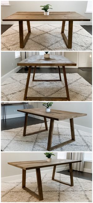 6FT x 3FT Solid Wood Rustic Modern Dining Table for Sale in San Jose, CA