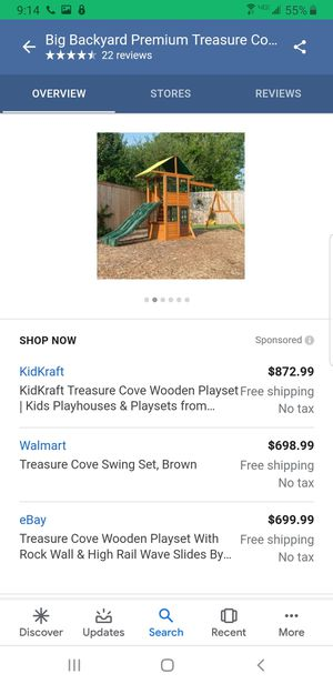 Wooden swing set for Sale in Chula Vista, CA