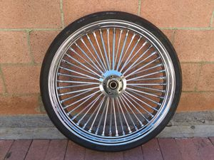 "new front 23""x3.5 fat spoke wheel for Sale in South Gate, CA"