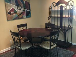 Ashley Furniture - Table w/4 Chairs + Bakers Rack for Sale in College Park, MD